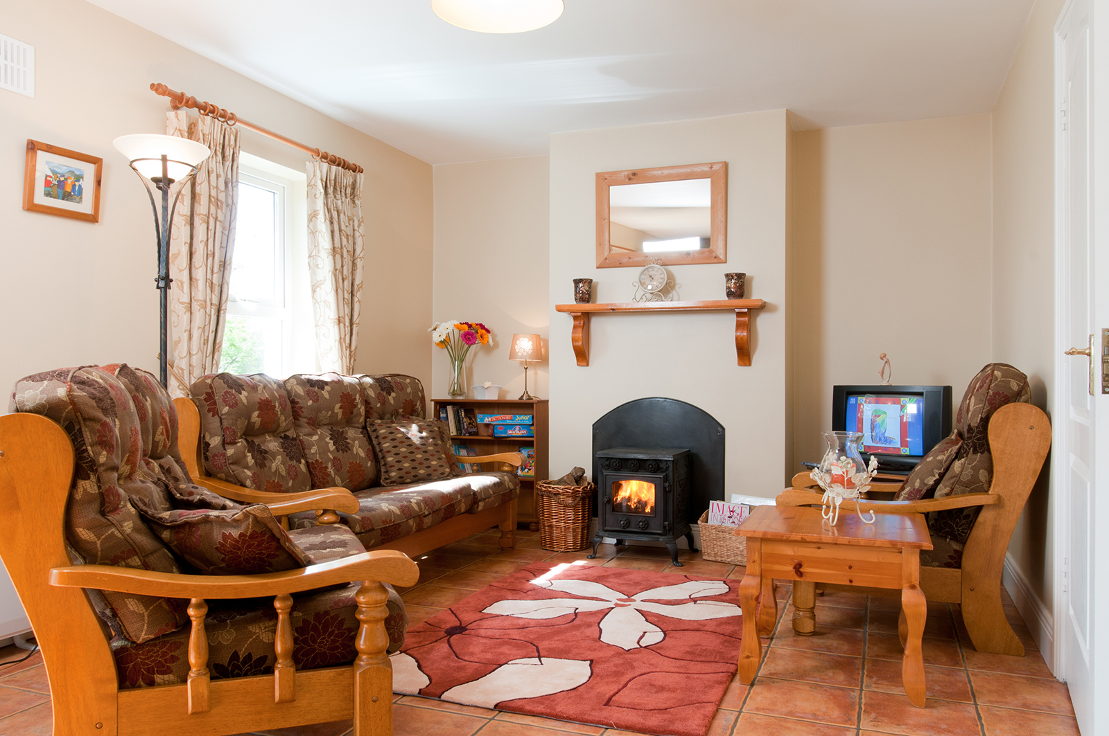 Living room at self catering cottage