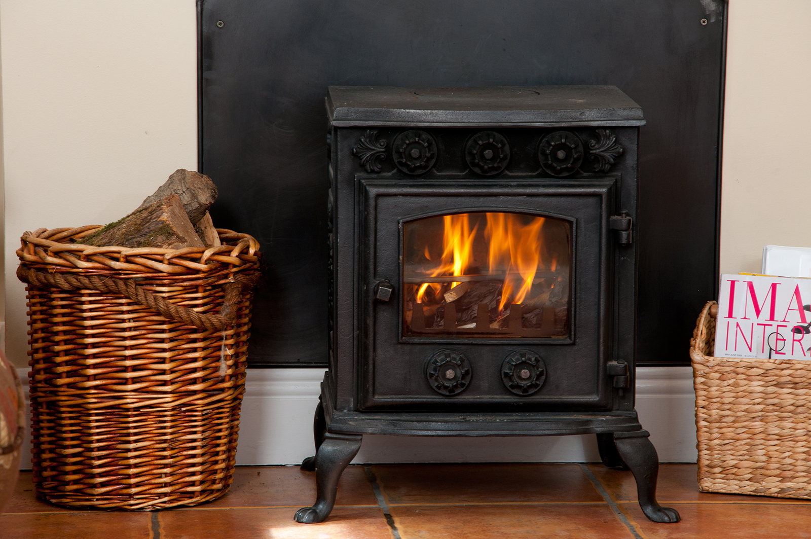 Stove at self catering cottage