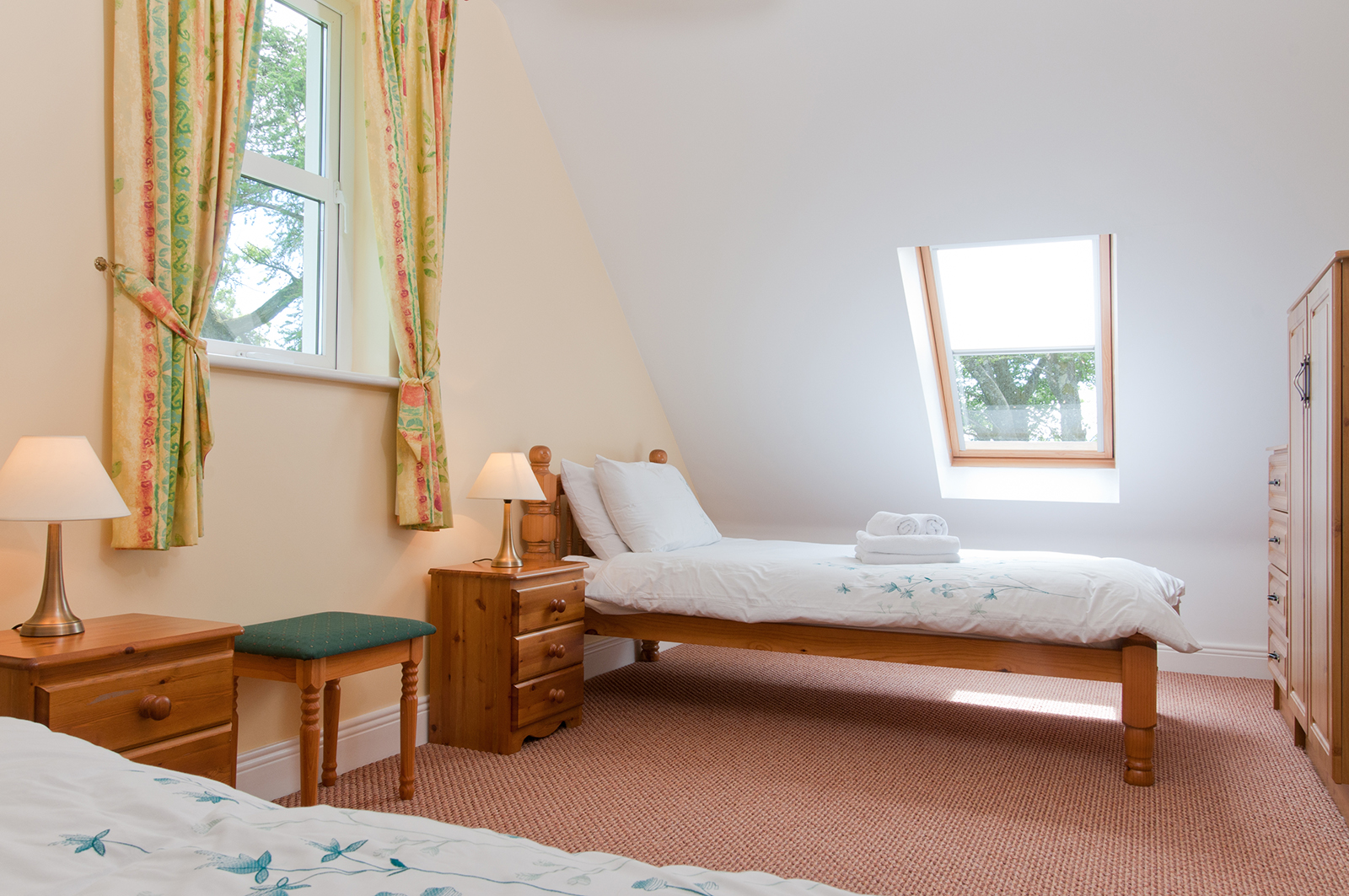 Bedroom of self-catering holiday rental