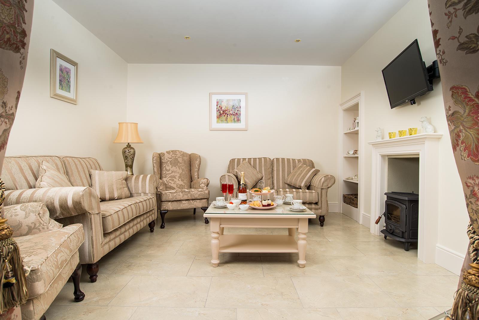 Living room at B&B