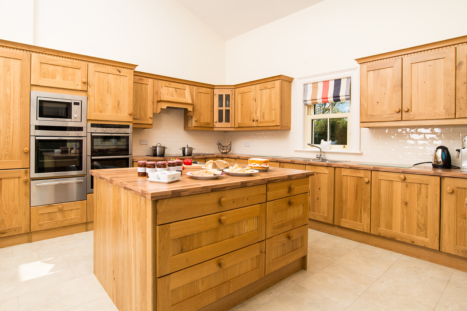 Wooden modern kitchen at self catering home