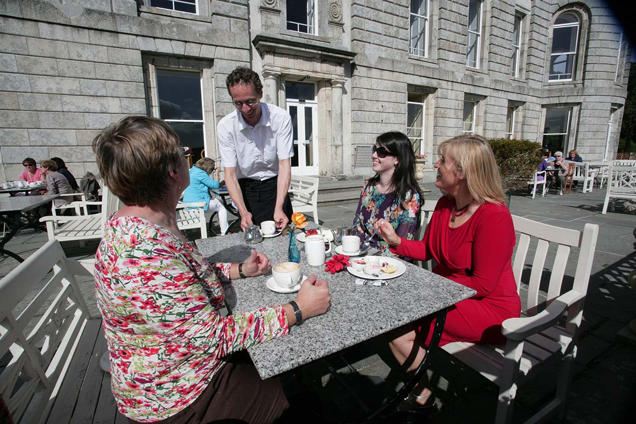 Group of ladies having afternoon tea at Powerscourt house & gardens