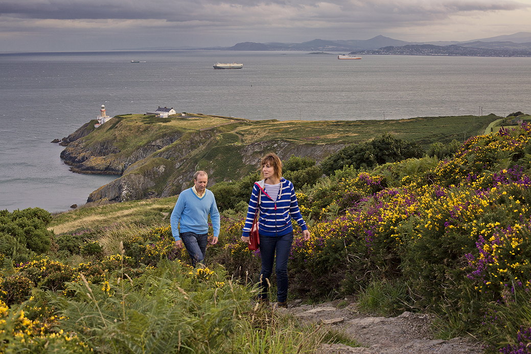 Sea Cliff walk at Howth in Co Dublin, a fishing and yachting port on the north side of Dublin