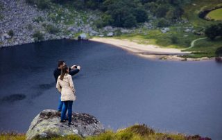 Lough Tay is a small scenic lake set on private property in the Wicklow Mountains in Ireland