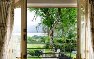 Balcony overlooking Blessington lakes