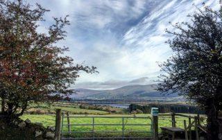 Farm at the Abhainn Ri overlooking Blessington lakes