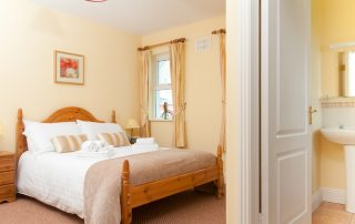 Bedroom at self-catering cottage