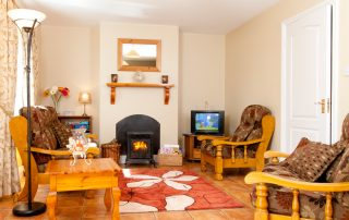 Living room in self-catering cottage