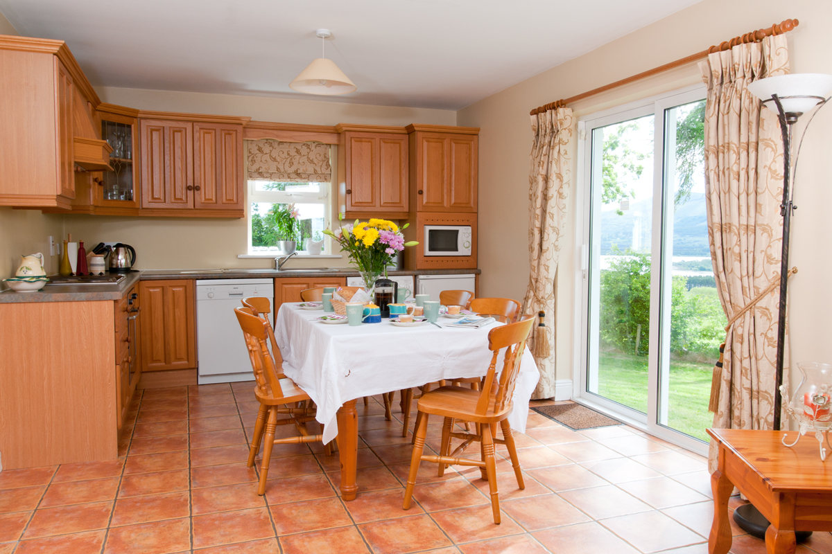 Dining room in self-catering cottage